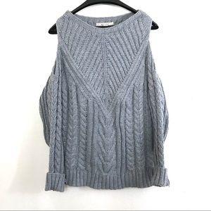Francessca's Miami Cold Shoulder Sweater